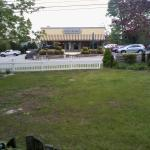 View of the Mystic Market from the front lawn gazebo at the Taber Inn - GREAT place to grab coff