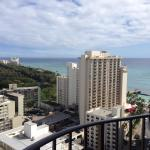 View of Rock Pool and Beach from my 22nd floor room