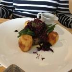 Ballantine Of Welsh Lamb with Parsnip Puree, Roast Potatoes and Red Cabbage (Gluten Free Gravy)