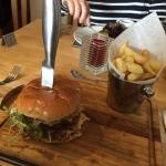Crab and Lobster Burger with Chips