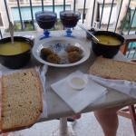 "A takeaway dinner from ""Enjoy Just Falafel"""