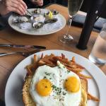 Croque Madame & oysters-AWESOME