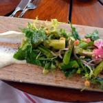 asparagus salad with goat cheese - delightful, but I could have eaten 2 portions ;-)