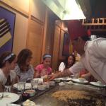 Serving Hibachi fried rice