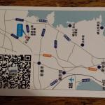 spa business card with map