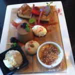 Chef's selection of desserts. Yummo