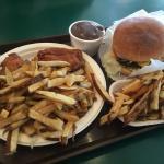 Fried Chicken & Cheese burger
