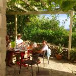Breakfast under the pergola