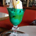 Delicious ice cream with zabaione