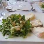 assiette de fromages...et sa salade...