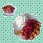 waffles with various toppings