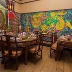 Китайский интерьер, традиционные круглые столы для компаний