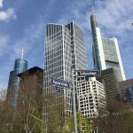 Aussicht auf das Bankenviertel in FFM