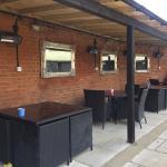 Nice & classy sun trap beer garden ☀️🍷🌺
