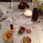 Valentines Day set menu