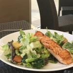 caesar salad with salmon