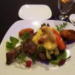 Rib eye steak with SUPREME OSCAR STYLE. Fabulous!!