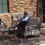 Enjoying a glass at Pear Valley winery
