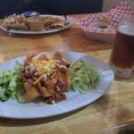 Chimichanga and Okanagan Spring Ale