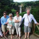 lors d'une escursion à Chamarel.