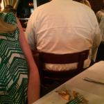 They jammed a party of 8 or 10 next to us. My wife could've grabbed the salt off their table.