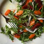 I'm not one to seek out anchovies, but this anchovy blood orange salad is the bomb!!!