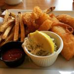 Pickerel,shrimp,and fries