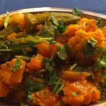 Okra and Pumpkin Masala at Tandoor India