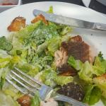 Caesar salad with seared salmon