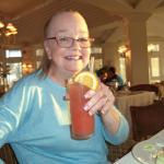 Gretch does a Tequila Sunrise.