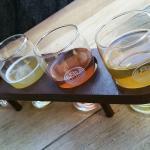 Assortiment de bières artisanales.