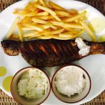 Fresh Trout with Garlic and Fries
