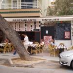 This is outside Natalie`s restaurant in palmanova!!!!