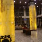 Pillars at lobby of Best Western Hariston