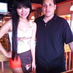 Hooters Beijing me with Hooter's girl