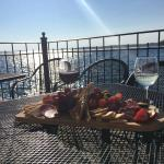 We did a wine tasting and then enjoyed the back deck! Atmosphere, food, wine,  and service was s