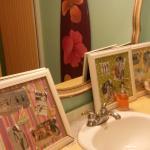 Quaint, Key West style ladies' rest room