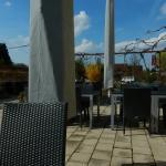 Ein Blick auf diem Terrasse des Winzerhotels