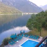 vista lago dall'albergo