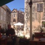 Blick vom Restaurant in Richtung Altstadt und Hafen.