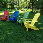 Adirondack chairs await you