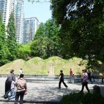 Dancing in the park in front of the burial mounds of Xu Guangqi and his family.