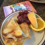 Kids Grilled Turkey & Cheese w/ Fresh Fruit