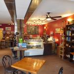 Inviting Interior of Baines Books and Coffee