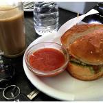 Veg Burger and Filter Coffee
