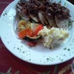 Pork tenderloin rhubarb Chutney