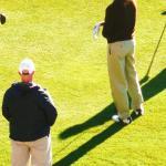 President Obama golfing Reflection Bay