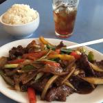 Mongolian Beef at Waters Cafe