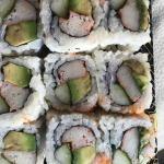 12 piece cali roll, take-out from Hanas. The avocado is rotten. What a shame, overrated.