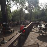 deck next to main lodge - great place for relaxed, informal mealt